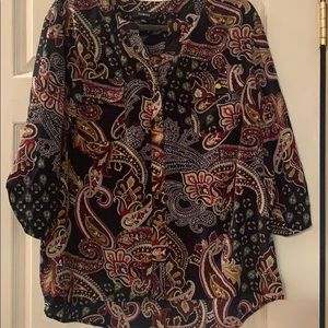 Elements blouse 3/4 sleeve floral pattern